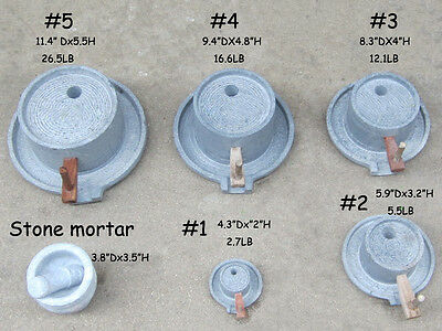 Chinese Size Optional Manually Stone Mill Grain Grinder Kitchenware Also Decor