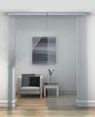 Classic String Fringe Panel Divider Window Door Curtain 90x200cm Silver New
