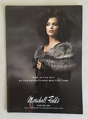 Vintage MARSHALL FIELD'S Fur Catalog 2005 NEW Condition Ships FREE!