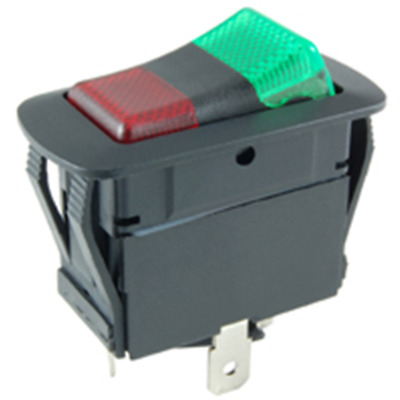 NTE 54-241W On-Off-On Lighted Rocer 20A SPDT Red/Green 12V LED Waterproof Switch