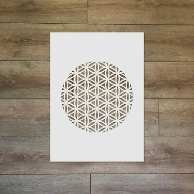 The Flower of Life - Sacred Geometry Reusable Plastic Stencil