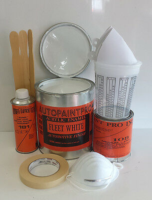 Fleet White Acrylic Enamel Single Stage Auto Restoration Car Paint Kit