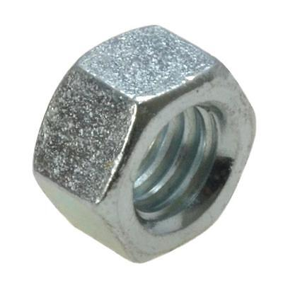 """Qty 20 Hex Standard Nut 7/16"""" UNC Imperial Zinc Plated Steel Grade 8 BSW ZP"""