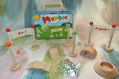Kaper Kidz Children's Pretend Play Marble Set and Obstacle Course Toy in Case!