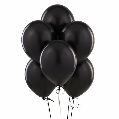 Lots 20/50/100Pcs Black Plain Latex Party Wedding Birthday Anniversary Balloons