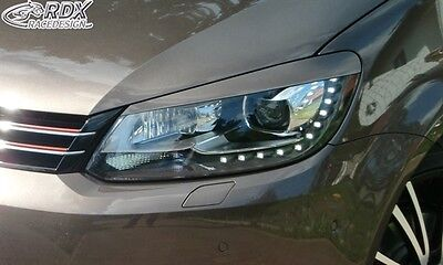 Headlight Brows Eyelids Eyebrows For Vw Touran 1T Gp Caddy 2K Facelift