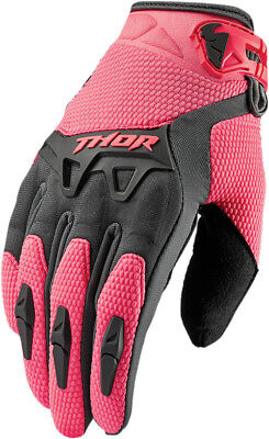 Thor Motocross Women s Spectrum Motorcycle Gloves Charcoal/Coral X-Large Youth