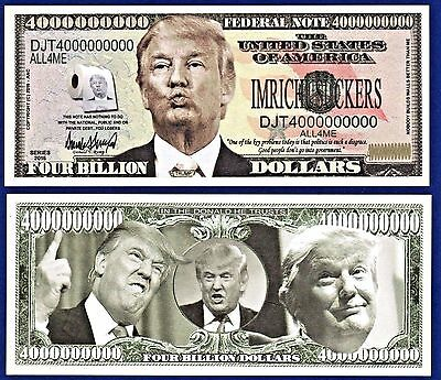 [2] Donald Trump 2016 Presidential Dollar Bills FAKE- MONEY- NOVELTY Q1