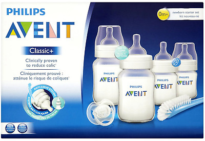 Avent - Classic+ Newborn Starter Set Kit - Bottles, Brush & Soother - BRAND NEW