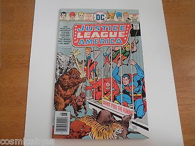 Justice League of America 131 NM 1970s Bronze Age comic caged animals HIGH GRADE