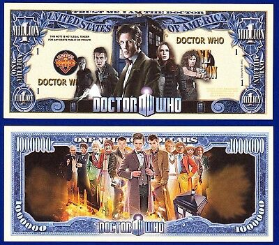 1-Doctor Who Dollar Bill sci-fi series  Collectible- Novelty  FAKE- MONEY-  U2