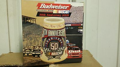 Anheuser Busch AB Budweiser Bud stein   Nascar  50th anniversary 1998 new racing