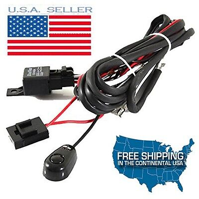 NEW 40A 12V Power Switch Relay Wiring Harness kit for LED Light Bar OffRoad HIDs