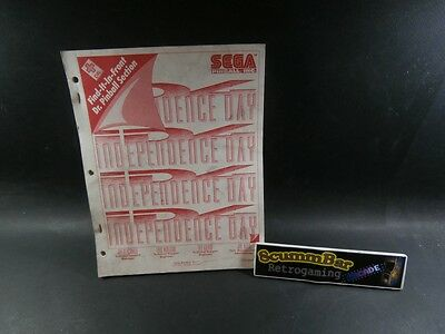 Indipendence Day - Manuale / Service Manual - Sega Flipper Pinball Usato / Used