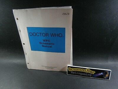 Doctor Who - Manuale / Schematic Manual - Midway Flipper Pinball - Usato / Used