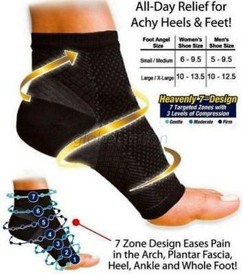 2Types Breathable Relief pain Ankle Compression Socks Open Toe Stockings G94