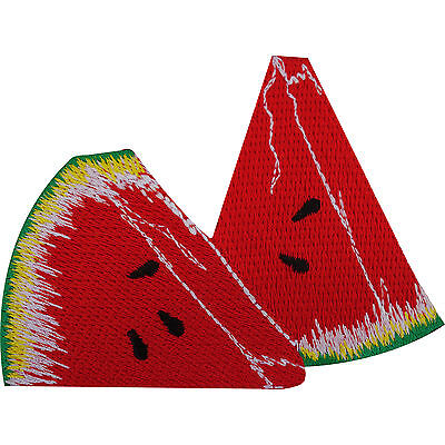 Watermelon Patch Embroidered Iron / Sew On Badge Cloth Fruit Embroidery Applique