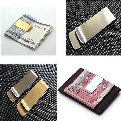 Simple Metal Money Clip 2 Colors Man Clamp Holder For Money Wallet Silver/Gold