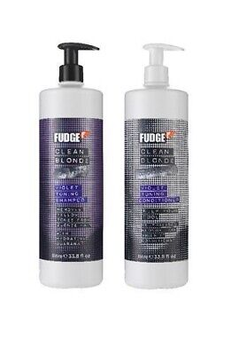Fudge Clean Blonde Violet Toning Shampoo and Conditioner 1000ml