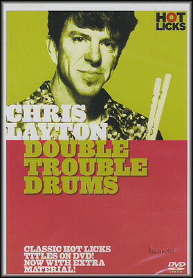 RRP 9.95 Chris Layton Double Trouble Drum Tuition DVD Stevie Ray Vaughan Drummer