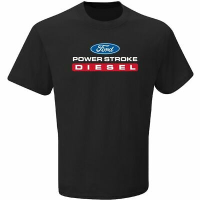 Ford Power Stroke Diesel Mens Black Short Sleeve Tee Shirt