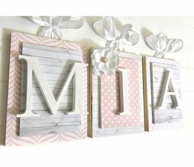 Wooden Nursery Letters, Custom Letters, Custom Wood Letters, Initials, Letters