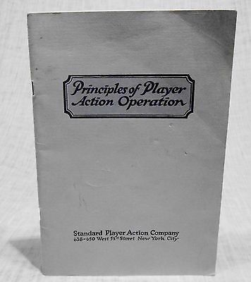 Player Piano Book: Principles of Player Action Operation Standard  Reference