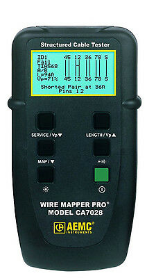 AEMC CA7028 Wire Mapper Pro LAN Network Cable Tester