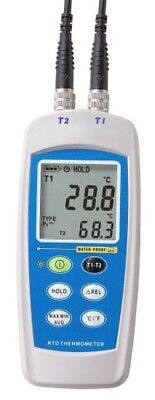 Testrite T-400 Waterproof Dual Input Digital RTD Thermometer with Pt100 Probes