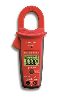 Benning CM 5-1 Cat IV True RMS Digital Clamp Meter with Auto Test Function