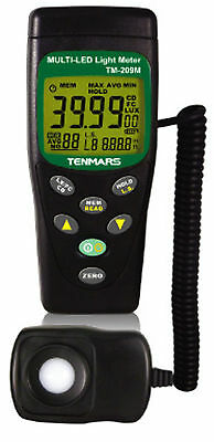 Tenmars TM-209M LED & Lux Light Meter with Selectable Led Colour Source