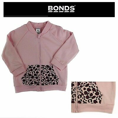 Baby Girl Kids Girls Bonds Pink Purple Terry Zip Jacket Top Size 000 00 0 1 2