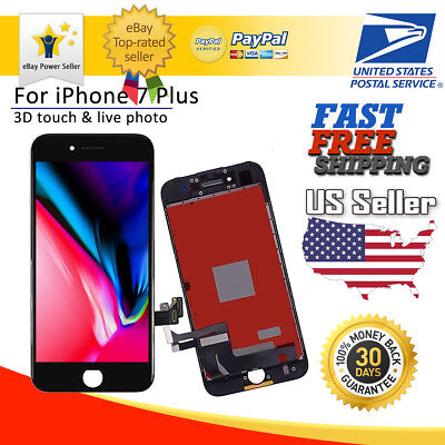"""OEM LCD Display Touch Screen Digitizer Assembly For iPhone 7 Plus Black 5.5"""" US"""