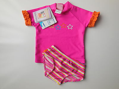 NEW Mud Pie baby girl bathers rash swimwear size 000 Fits 0-3 mths UPF 50+