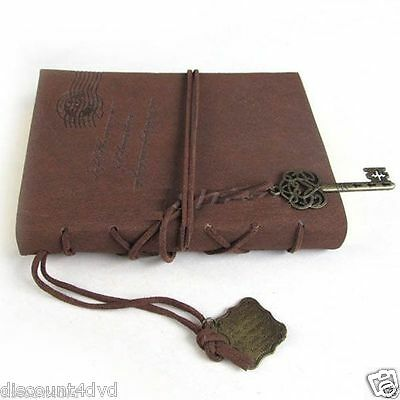 Dark Brown Retro Vintage Pu Leather Cover Blank Notebook Journal Stationery Gift