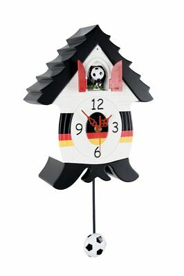 "Wanduhr ""Soccer"", Germany 	Cockoo Kuckucksuhr Uhr Fussball Edition GiftCompany"