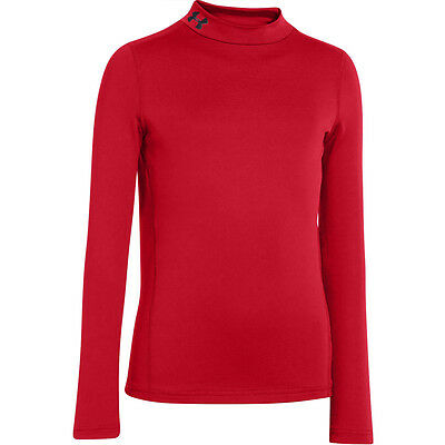 035107 SPORTS SALE Under Armour CG Evo Fitted Junior Mock Baselayer - Red L & XL