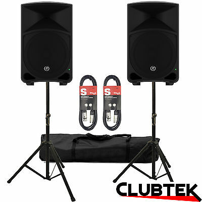 2 x Mackie Thump 12 2000W Active Powered Speakers + FREE Stands Bag 10m Leads UK