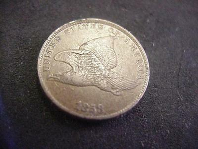 1858 FLYING EAGLE PENNY CENT 1c *SMALL LETTERS* EXTRA FINE XF