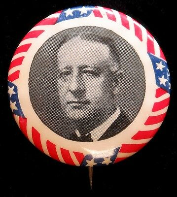 "1928 Alfred ""al"" Smith Democratic Presidential Campaign Celluloid 32 Mm Button"