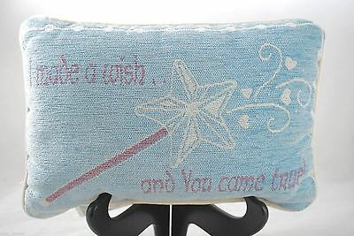 "Nursery Decor Pillow ""I Made a Wish and You Came True"" Princess Prince Baby"