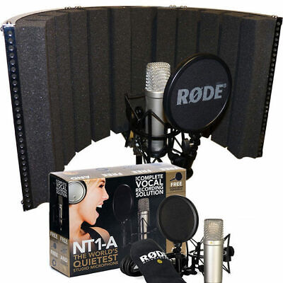 Rode NT1A Condenser Bundle with Sound Reflection Screen Vocal Recording Booth DP