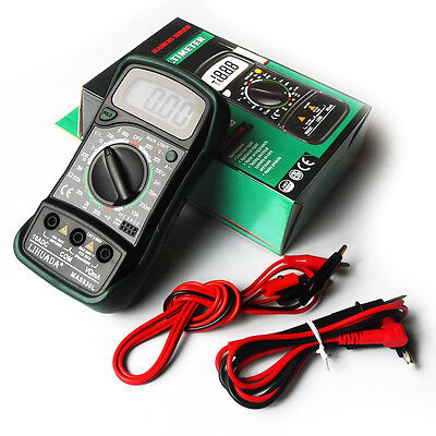 Quality Digital Multimeter, AC DC Voltmeter Ohmmeter Multi Tester, Extra Leads