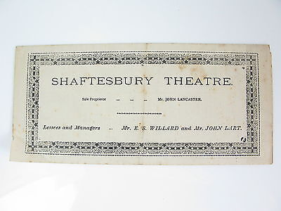 1889 Shaftesbury Theatre Programme - The Middleman