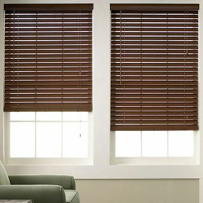 Wood Grain Faux Wood Blinds - 6 Colors - Free Shipping