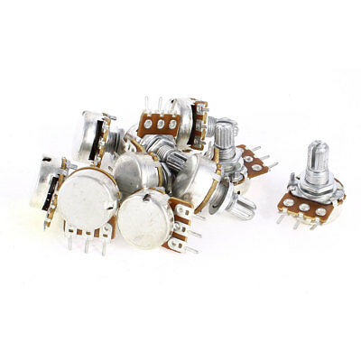 10 Pieces 2K Ohm B2K Top Adjustment Single Linear Rotary Taper Potentiometers