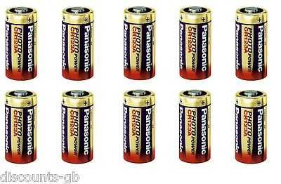10 x Panasonic CR123A 3V Lithium Photo Battery 123 CR123 DL CR17345 Camera