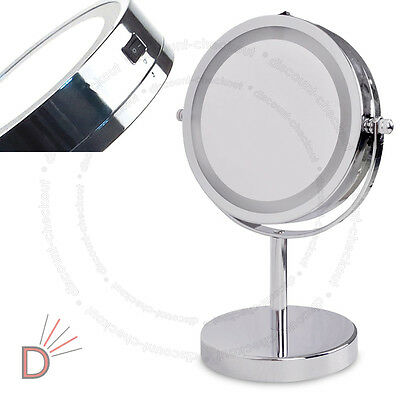 Round Magnifying LED Illuminated Bathroom Make Up M3763 Cosmetic Vanity Mirror