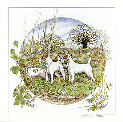 """PARSON JACK RUSSELL TERRIER PJRT DOG FINE ART LIMITED EDITION PRINT - """"Paradise"""""""