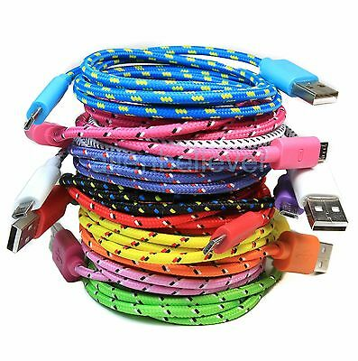 Braided Micro USB Data Sync Charger Cable For SAMSUNG GALAXY S7 S6 Edge S7 Edge